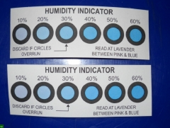 普通湿度卡/湿度指示卡 6点式 200Pcs/罐
