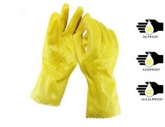 舒意牌 耐酸碱手套 黄色