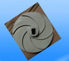 水平线通用耐酸碱水泵系列 叶轮 6叶(Ø20轴,方孔)卡槽烧焊 (来样订做)