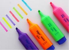 中柏荧光笔彩色记号笔